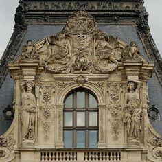 pediment colbert pavillion louvre