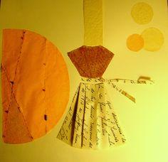 Otoño. Papel de carta, antiguo, papel cosido, papel araña. www.ale-correa.com