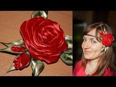 Роза Канзаши на Афинке (мастер класс) / DIY Kanzashi Rose - YouTube