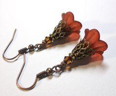 Jewelry Earrings Brown Rust Earrings Southern by SpiritCatDesigns