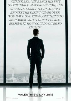 9 re-made Fifty Shades of Grey posters with quotes from the book highlight abuse rather than erotica