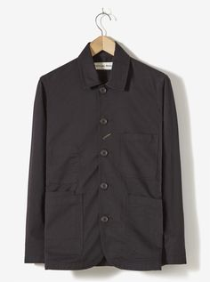 c159695036f Universal Works Bakers Jacket in Black Twill Universal Works