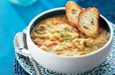 Québécois-Style Pea Soup, from Canadian Living - we love split pea soup, but there is really nothing that beats the Quebecois version - pure comfort food on a cold evening.