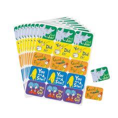 Dr. Seuss™ Character Success Stickers - OrientalTrading.com