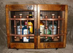 Reclaimed Liquor Cabinet: Wall Mounted Bar