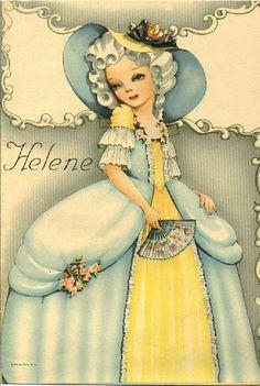 """""""Helene"""" by Helen Page   Gabi's Paper Dolls"""
