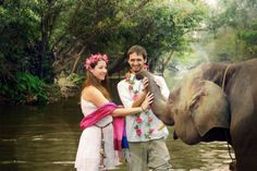 Beautiful and unique elephant destinatoin wedding on location in Chiang Mai, Thailand at the Chai Lai Orchid Elephant Wedding, Baby Elephant, Thai Elephant, The Chai, Thailand Elephants, Chiang Mai, More Cute, Thailand Travel, Love Photography