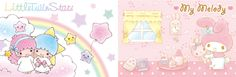My Melody and Little Twin Stars bore cloth print series