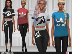 The Sims Resource: Sportswear Set 84 by ShakeProductions • Sims 4 Downloads