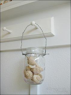 Hanging Mason Jars Tutorial - Domestically Speaking