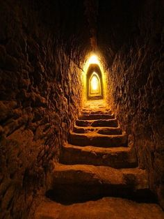Beautiful Doorways !!  Inside the great pyramid of Cholula, Mexico