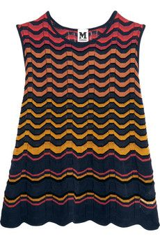 M Missoni Crochet-knit cotton-blend top | THE OUTNET
