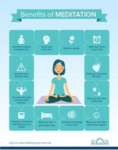 A very nice infographics on Benefits of #meditation from @artoflivingnow