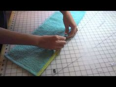 Great video tutorial on making your own bibs from hand towels - from GreenMommyDiapers