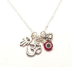 Luck and Protection Charm Necklaceyoga by charmeddesign1012, $30.00.  Love!!!
