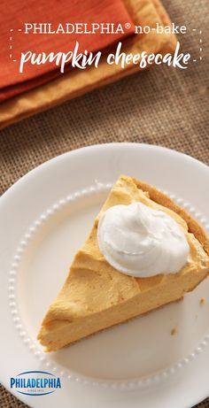 PHILADELPHIA No-Bake Pumpkin Cheesecake – Pumpkin—a fall favorite—is blended into a delectable cheesecake, all without turning on the oven! Check out this recipe to see how you can make this no-bake dessert for your next occasion this holiday season.