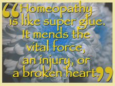 Homeopathy Is Like Super Glue - Homeopathy World Community