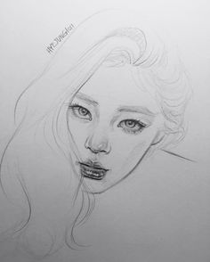 ♕pinterest // sienazhang Pencil Art, Pencil Drawings, Art Drawings, Face Sketch, Drawing Sketches, Art Du Croquis, Sketch Inspiration, Realistic Drawings, Drawing Techniques