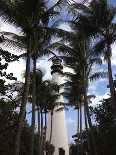 Cape Florida Lighthouse in Key Biscayne, FL