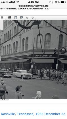 CAIN SLOANS ... NASHVILLE, TENNESSEE  My Mamma worked there in the 1960's - to the early 1970's . They decorated the store so beautiful for Christmas and Easter. I loved eating lunch there. The clothes were beautiful! It was magical!