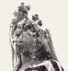 We Are Nature is an awesome portrait project by photographer Christoffer Relander of Raseborg, Finland. He used a Nikon D700 for in-camera multiple exposures and then made small contrast and tone adjustments in post for his surreal portraits.