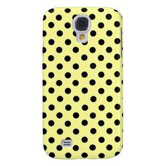 Yellow  Black Spot Polka Dot 3G  Samsung Galaxy S4 Cover
