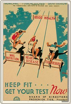 Vintage Public Health Poster: Municipal Tuberculosis Sanitarium