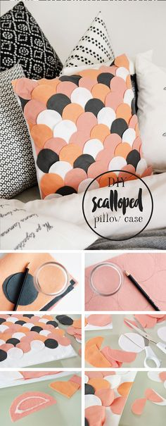 DIY Scalloped Pillow Cover Project