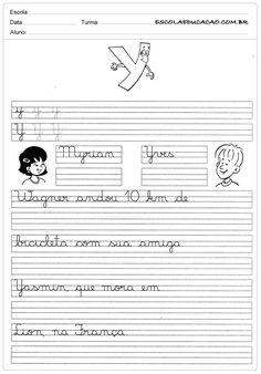 Atividade de caligrafia letra Y
