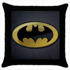 BATMAN LOGO Black Cushion Cover Throw Pillow Case Gift  http://stores.shop.ebay.co.uk/giftbazaar