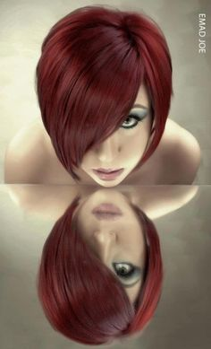 Beautiful Red Bob