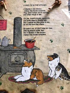 Shelties zijn graag overal bij.....ook in de keuken :-)