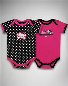 Girly Skull and Heart Snapsuit Set 2 Pc