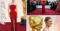 """Does the carpet match the dress? For a few brave souls, yes. Ms. Pike, a nominee for """"Gone Girl,"""" chose lipstick-red Givenchy Haute Couture.   It was a bold move, but Ms. Pike reaped the reward. Her strapless high-slit gown, if not one of the night's most exciting, was flattering and memorable. What's more, her red belt blended in and so didn't invite jabs from the online peanut gallery, as Nicole Kidman's did.  See more of her looks."""