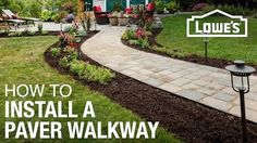A paver walkway can add an attractive touch to your landscape. Turn a simple paving stone walkway into a focal point for your outdoors.