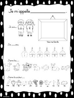 French Kinder All About Me -- Coucou, c'est moi! by Mlle Cody Learning French For Kids, Teaching French, Math For Kids, 1st Grade Math Worksheets, French Worksheets, Core French, French Class, French Language Lessons, French Lessons