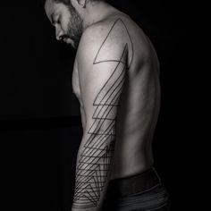 Geometric sleeve by Tyler Hawkinson
