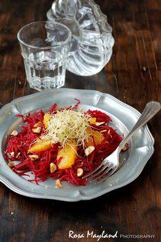 Rosa's Yummy Yums: BEETROOT AND ORANGE SALAD - SALADE DE BETTERAVE À L'ORANGE
