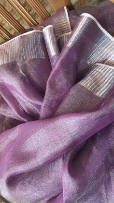 Pure Linen Saree: Free COD Jivika Pretty Sarees Saree Fabric: Pure Linen Blouse: Separate Blouse Piece B.