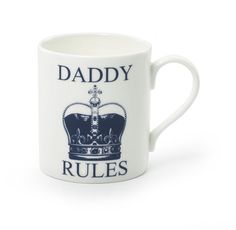 For Him - Daddy Rules Mug, £9.00 #moonfruit #christmas #collection #daddy #crown #mug