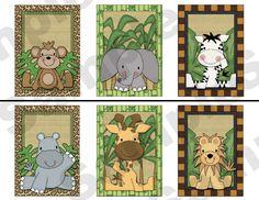 JUNGLE ZOO ANIMALS WALL BORDER DECALS BABY BOY NURSERY KIDS ROOM STICKERS DECOR $13.99 #decampstudios