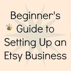 The Beginner's Guide to Setting Up an Etsy Business http://julieedmonson.com/blog/the-beginners-guide-to-setting-up-an-etsy-business #etsy #creativebiz