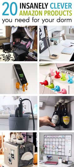So you've got the essentials for your dorm room packed and ready to go...or so you thought. Take a gander through this list of insanely clever products (all found on Amazon) and I can pretty much guarantee you'll find something you ABSOLUTELY need for your...