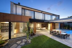 Interior Designer Williamstown and House Designer in Melbourne Interior Designers Melbourne, Indoor Outdoor Living, Outdoor Decor, Kitchen Dining Living, Flat Roof, Traditional House, Building Design, Living Area, Flow