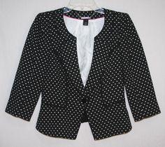 White House Black Market One Button Jacket Blazer Size 6 Women's Fashion Career Style Wear to work