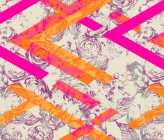 GEO_ROSE_HOT fabric by pattern_state on Spoonflower