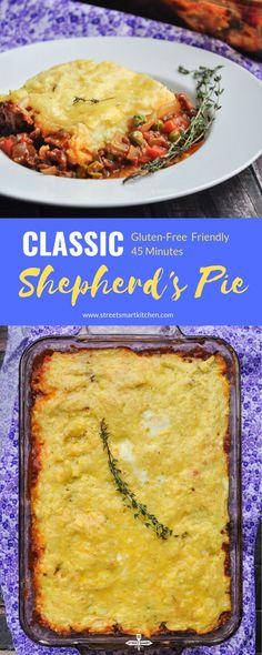 Classic Shepherd's Pie Recipe - StreetSmart Kitchen Irish Recipes, Pie Recipes, Crockpot Recipes, Chicken Recipes, Dinner Recipes, Cooking Recipes, Healthy Recipes, Holiday Recipes, Healthy Food