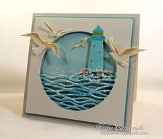 FS538, Lighthouse and Sea Birds by kittie747 -FS Hostess at Splitcoaststampers
