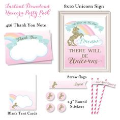 Welcome to Bradford Road Designs!  Its a Magical Celebration   This invitation is perfect for a Magical Unicorn Birthday, Pastel Rainbow