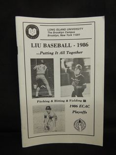 1986 LIU Long Island University NCAA Black Birds Media Yearbook Guide New York